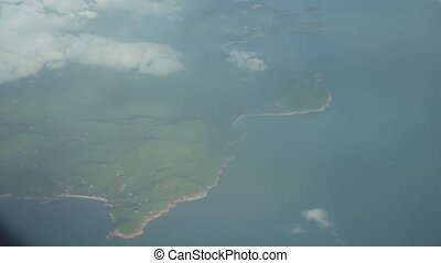View from plane to Koh Samui in Thailand - View from the...