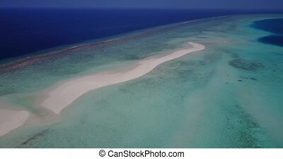 v05598 Aerial flying drone view of Maldives white sandy...