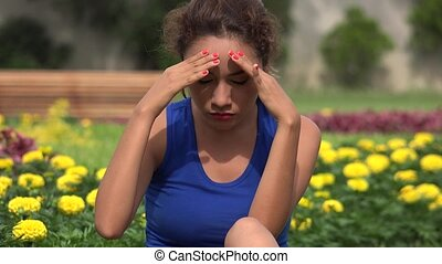 Young Hispanic Woman Stress And Anxiety