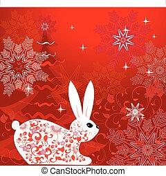 New Years Rabbit Tree