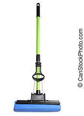 Mop on white background