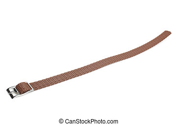 Nylon watch strap on white background
