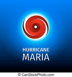Graphic banner of hurricane Maria. Icon / sign / symbol of...