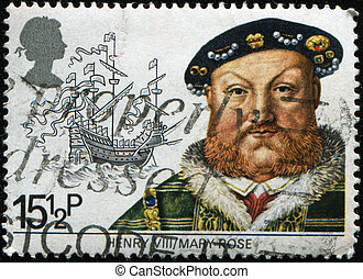 Henry VIII and the Mary Rose - UNITED KINGDOM - CIRCA 1982:...