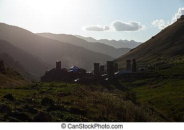 山, 村莊