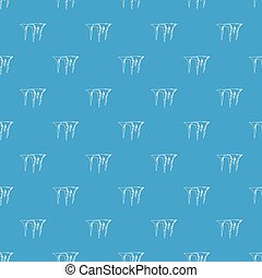 Icicles pattern seamless blue - Icicles pattern repeat...