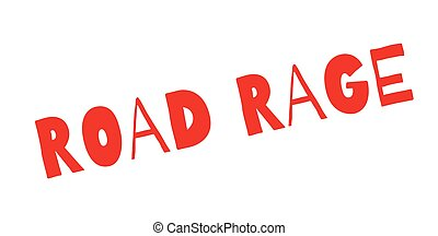 Road Rage rubber stamp. Grunge design with dust scratches....