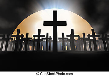 cross - holy cross 3d abstract religion concept