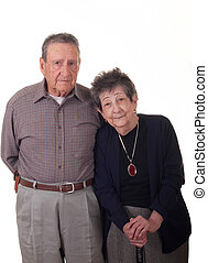 Old Couple Vertical.jpg - A couple in their eighties on...
