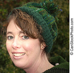 lady with green hat and green eyes - Beautiful British...