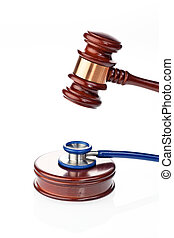 Stethoscope and Gavel - Stethoscope and gavel as a symbol of...