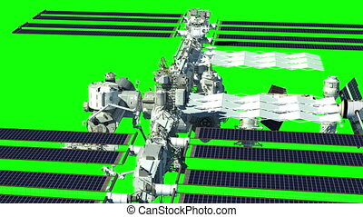Green screen animation with the International Space Station....