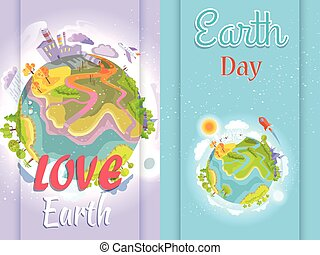 Poster Urging People to Save the Environment - Earth Day...