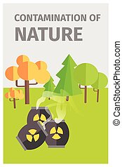Contamination of Nature in Forest with Chemicals -...