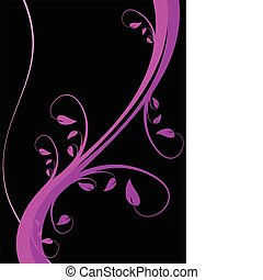 A stylized magenta floral vector background