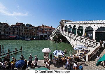 Italy, Venice. Rialto Bridge - The lovely city of Venice in...