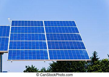 alternativa, solar, energía