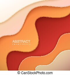 Realistic paper cut background. - Realistic paper cut canyon...