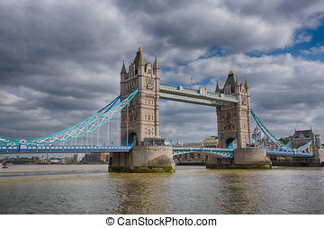 Tower Bridge London Daytime - Daytime View of the West Side...