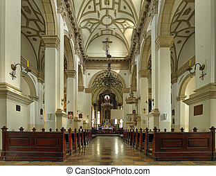 Interior the old Cathedral in Zamosc, Poland - Cathedral of...