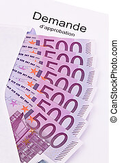 Euro Money - Euro money and a letter in french language