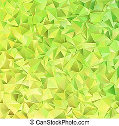 Lime green abstract chaotic triangle pattern background -...