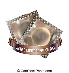 World Contraception day emblem, vector illustration of two...