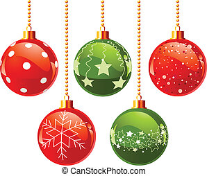 Color Christmas balls - Illustration of color Christmas...