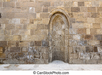 Stone wall with embedded niche, Cairo, Egypt