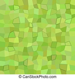 Green rectangle tiled mosaic pattern background with 3d effect