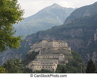 Fort in Bard - Fort Bard fortified complex in Aosta Valley...