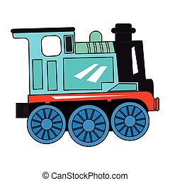 Isolated train toy on a white background, Vector...