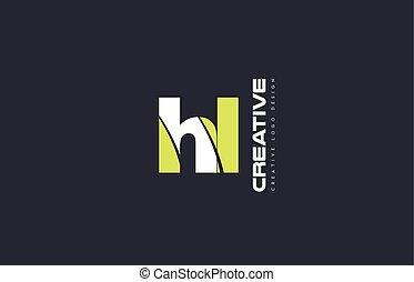 green letter hl h l combination logo icon company design...