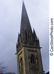 church spire if llandaff church whuch is a very old church...