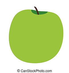 Isolated apple fruit - Isolated apple on a white background,...