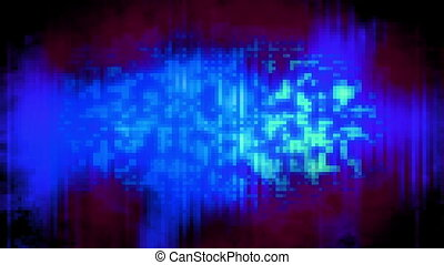 Squared blue and magenta looping abstraction backdrop - Blue...