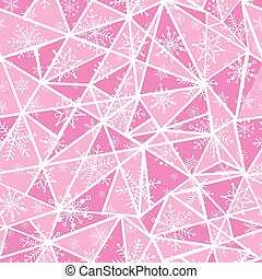 Vector abstract pink christmass snowflakes on triangles...