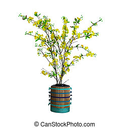 Yellow Apricot Blossom, Vietnamese traditional lunar new...
