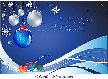 Christmas Baubles - Vectorial clover christmas composition....
