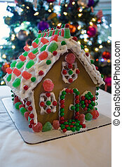 Christmas gingerbread house - Decorated Christmas...