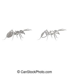 Ant it is black icon . Simple style.