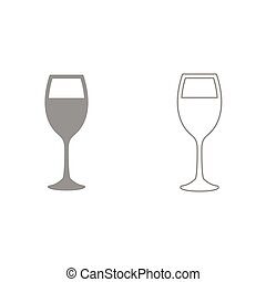 Glass of wine it is black icon . Simple style.