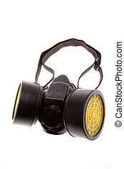 Respirator isolated over white background