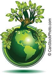 緑, 地球