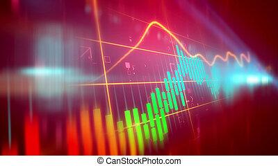 Jerky business line chart - Dazzling 3d illustration of a...