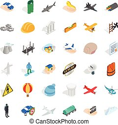 Policy icons set, isometric style - Policy icons set....