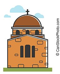Cyprus cathedral or orthodox monastery symbol Greek tourism...