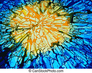 Explosion, shattered glass, vector image.