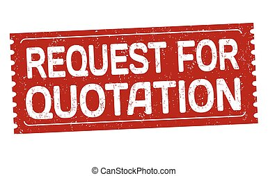 Request for quotation sign or stamp - Request for quotation...