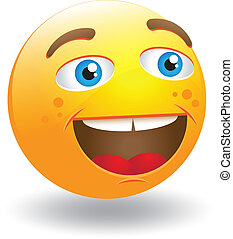 Laughing Smiley Face - Vector illustration It can be scaled...